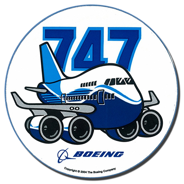 Sticker Boeing 747 Original