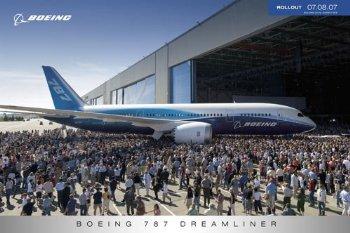 Poster Boeing 787 Original