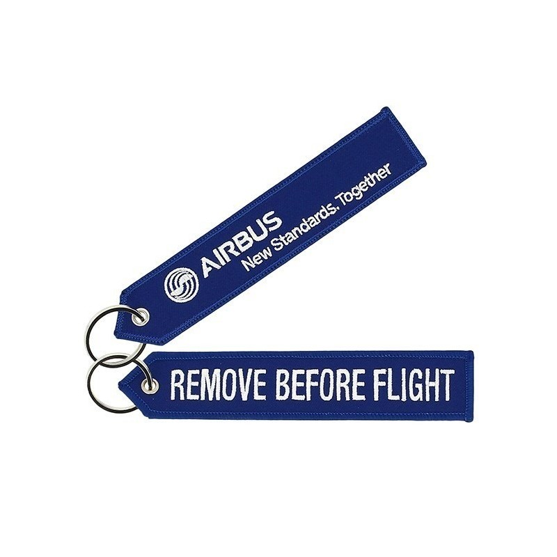 Blue Airbus Remove Before Flight Key Ring