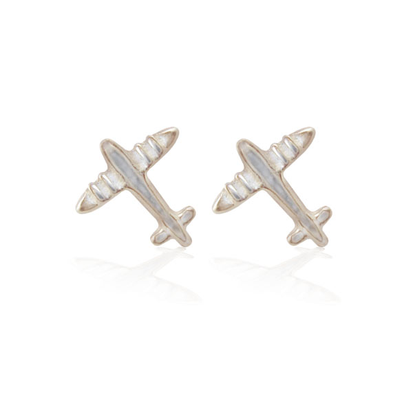 Aretes Mini Aviones en Relieve