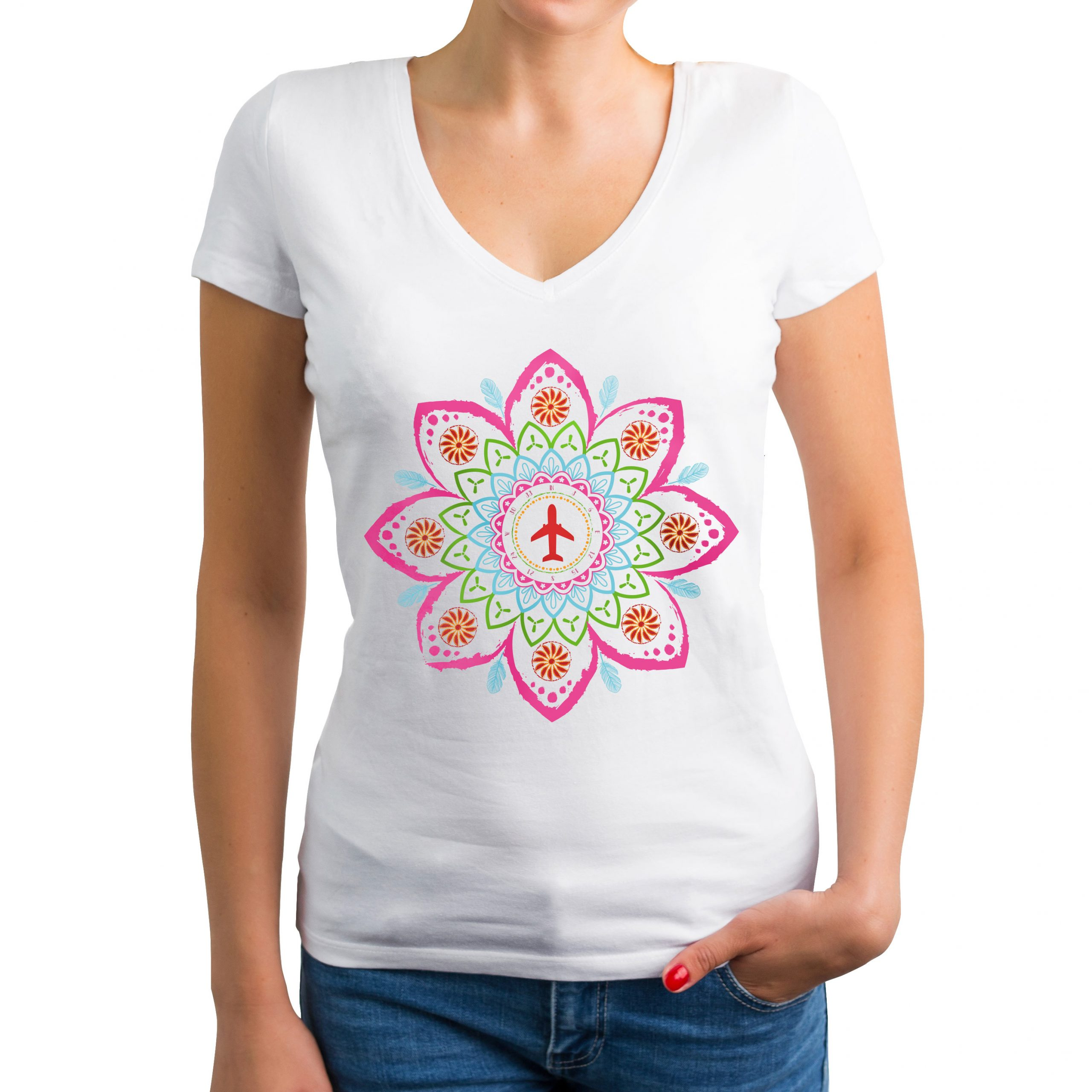 Airplane Mandala T-shirt