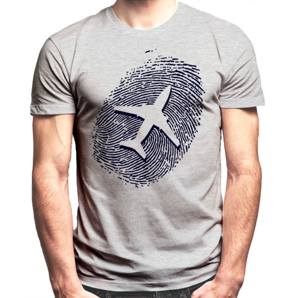 Plane Fingerprint T-Shirt