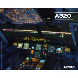 Poster Cockpit Airbus A320neo Original