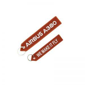 Llavero Airbus A380 «We make it fly» Rojo Original